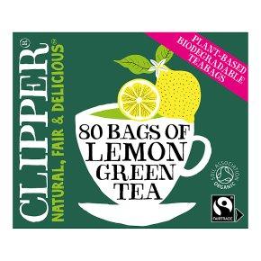 Clipper Organic Green Tea & Lemon 80 Tea Bags
