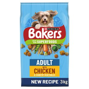Bakers Adult Dry Dog Food Chicken & Vegetables
