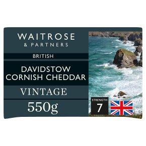 Waitrose Davidstow Cornish Cheddar Vintage Strength 7