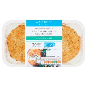 Waitrose Cod & Parsley Sauce Fishcakes