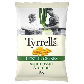 Tyrrell's Sour Cream & Onion Lentil Crisps