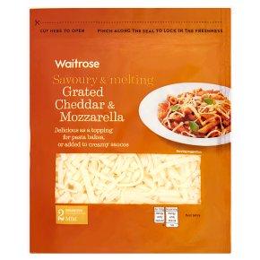 Waitrose Grated Cheddar & Mozzarella Strength 2