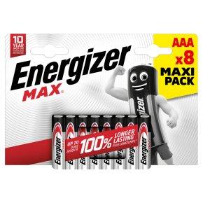 Energizer Max AAA LR03 1.5v