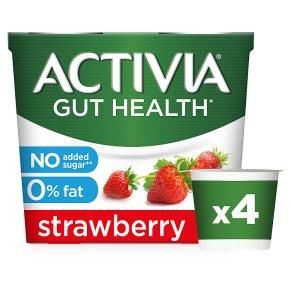 Activia 0% Fat Strawberry Yogurts