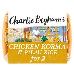 Charlie Bigham's chicken korma & pilau rice