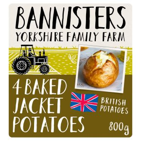 Bannisters Farm Frozen Ready Baked Potatoes