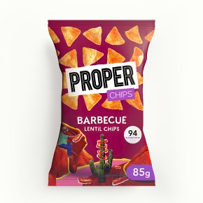 Proper Chips Lentil Chips Barbecue