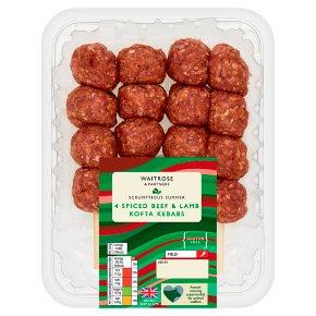 Waitrose 4 Spiced Beef & Lamb Kofta Kebabs
