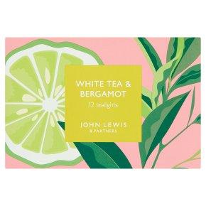 John Lewis White Tea & Bergamot Tealights