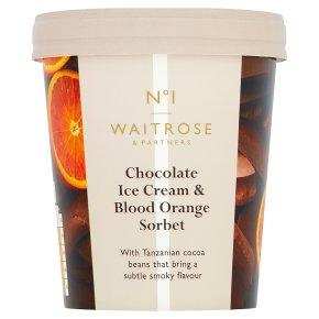 No.1 Chocolate Ice Cream Blood Orange Sorbet