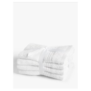 John Lewis Cotton Face Cloths 4 Pack White