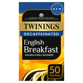 Twinings English Breakfast 50 Teabags Decaffeinated