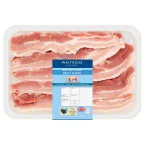Waitrose British Pork Belly Slices