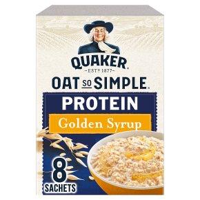 Quaker Oat So Simple Protein Golden Syrup 8 Porridge Sachets