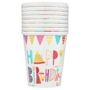Waitrose Home Celebration Cups 9oz