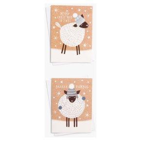 John Lewis Christmas Sheep Card