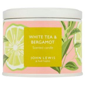 John Lewis Candle Tin White Tea & Bergamot