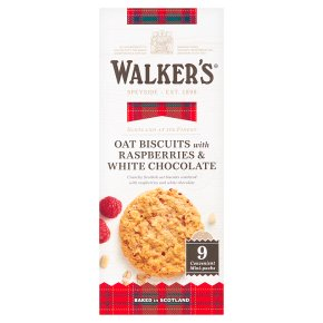 Walker's Biscuits with Raspberry & White Chocolate