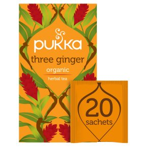 Pukka Organic Three Ginger 20 Tea Sachets