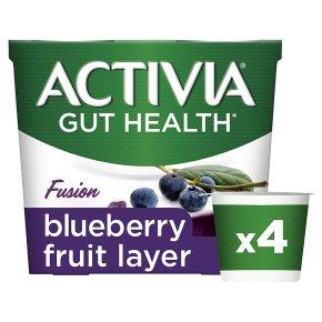 Activia Fusion Blueberry Fruit Layer