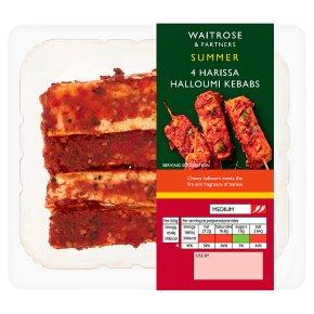 Waitrose 4 Harissa Halloumi Kebabs