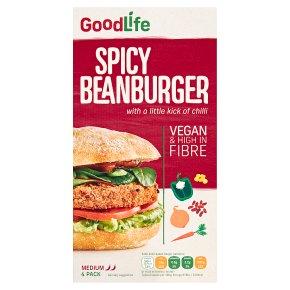 Goodlife Spicy Veg Beanburgers