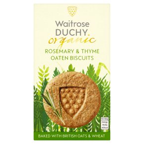 Waitrose Duchy Rosemary & Thyme Oaten Biscuits