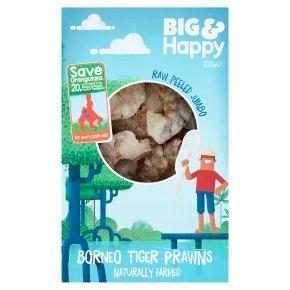 Big & Happy Raw Peeled Jumbo Borneo Tiger Prawns