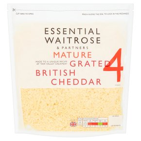 Essential English Cheddar Grated Strength 4