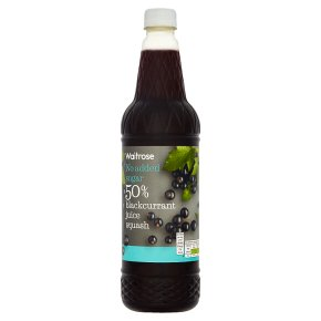 Waitrose 50% juice blackcurrant squash no added sugar
