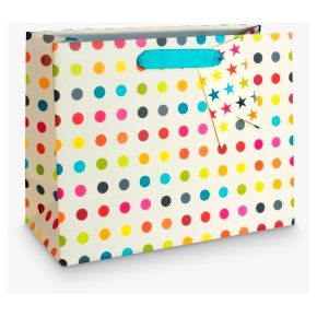 John Lewis Small Multicolour Spot Bag