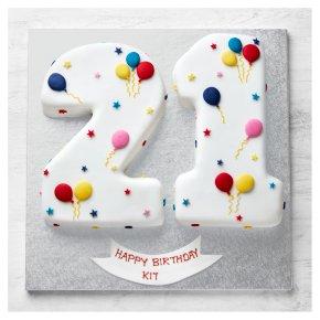 21st Birthday Balloon & Stars Cake