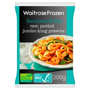 Waitrose Frozen Raw, Peeled Jumbo King Prawns