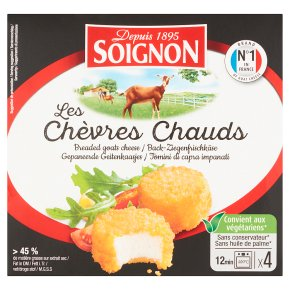 Soignon Les Chèvres Chauds Breaded Goats Cheese