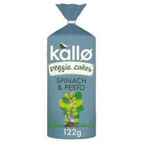 Kallo Veggie Cakes Spinach & Pesto