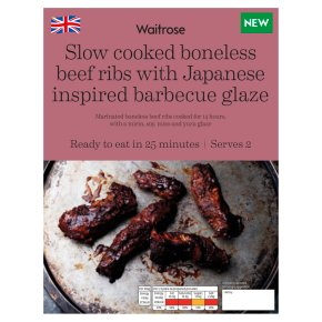 Waitrose Slow Cooked Boneless Beef Ribs with Japanese Glaze