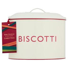 Waitrose Christmas Biscotti Selection Tin