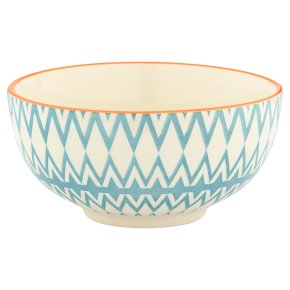 Waitrose Oriental Bowl Medium Terracotta & Blue