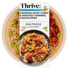 Waitrose Thrive Chickpea Satay Curry & Cauliflower
