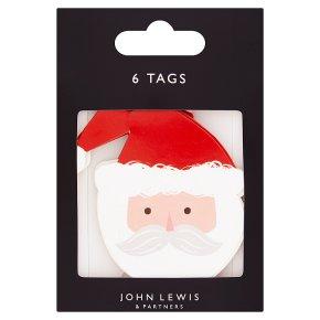 John Lewis Santa Face Gift Tags
