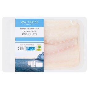 Waitrose Cod Fillets MSC