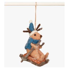 John Lewis Sledging Reindeer Decoration