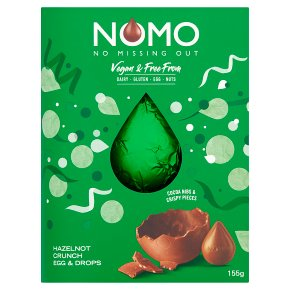WAITROSE > Food Cupboard > NOMO Vegan HazelNOT Crunch Easter Egg & Drops