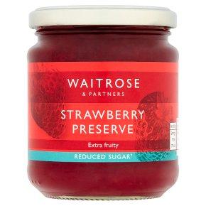 Waitrose Reduced Sugar Strawberry Preserve