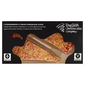 English Cheesecake Company 2 Strawberry Slices