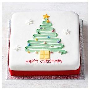 Christmas Iced Sponge Cake