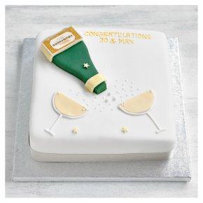 Golden Sponge Congratulations Cake