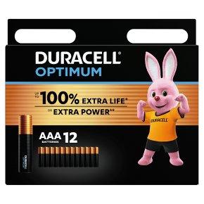Duracell Optimum AAA 12 Pack