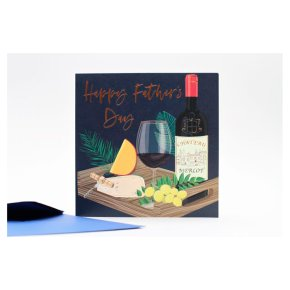 Wine and Cheese Fathers Day Card