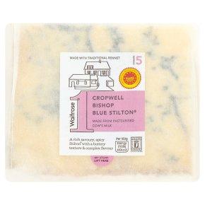 Waitrose 1 cropwell bishop blue stilton cheese, strength 5